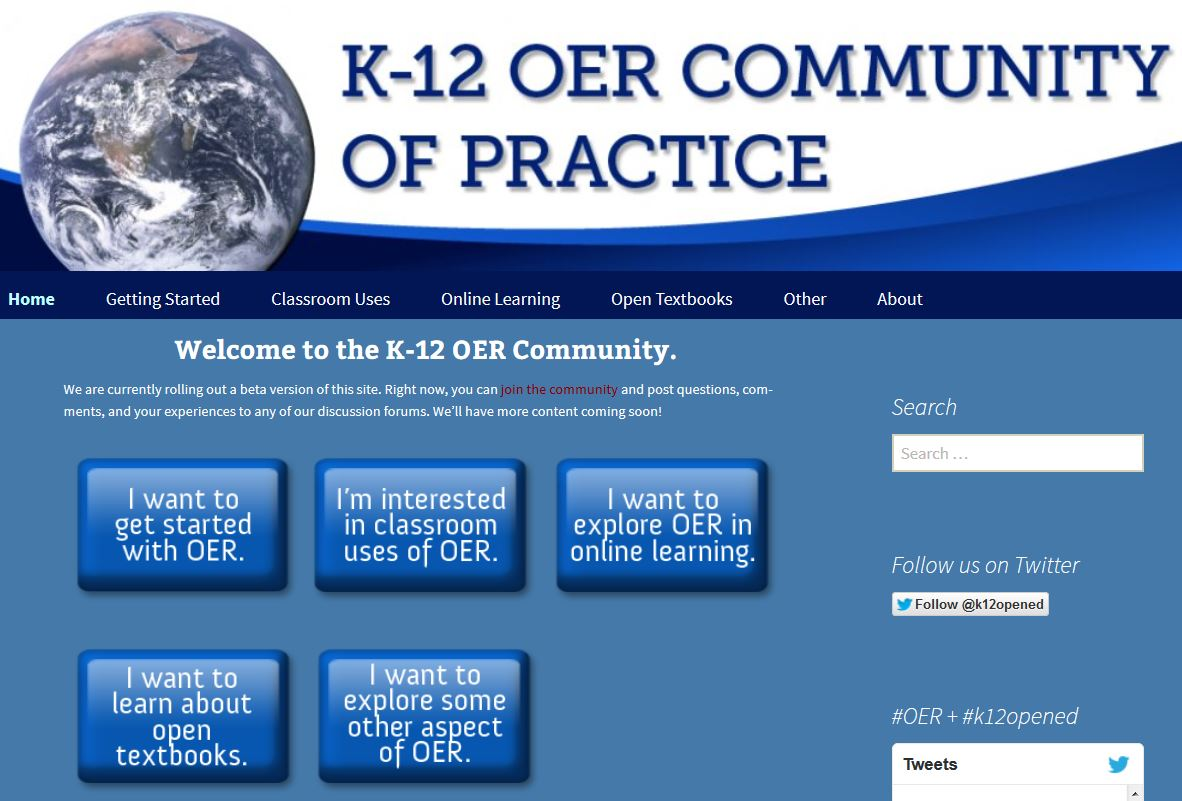 K-12 OER Community of Practice